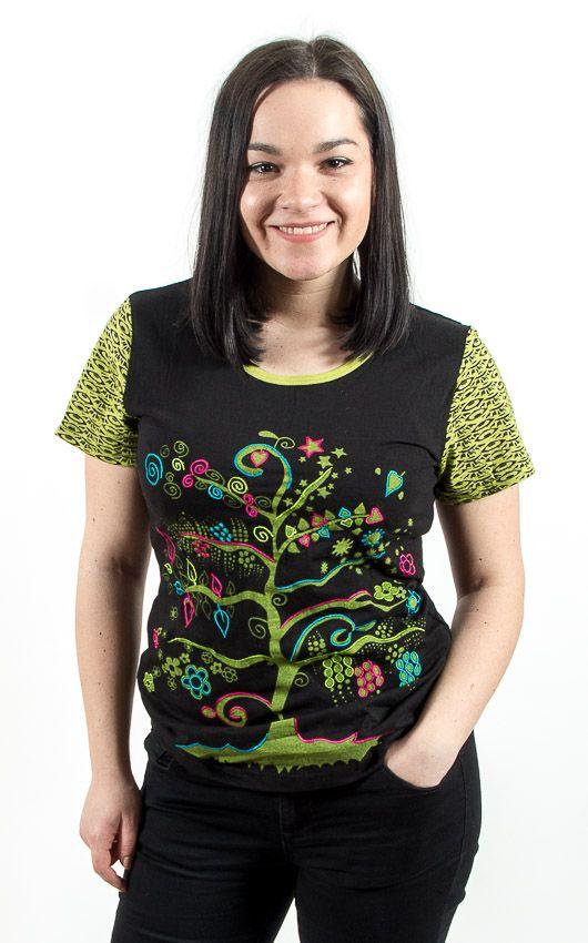 Tričko MAGIN kr. rukáv, 100% bavlna, ruční tisk Nepál NT0100 40 002 KENAVI