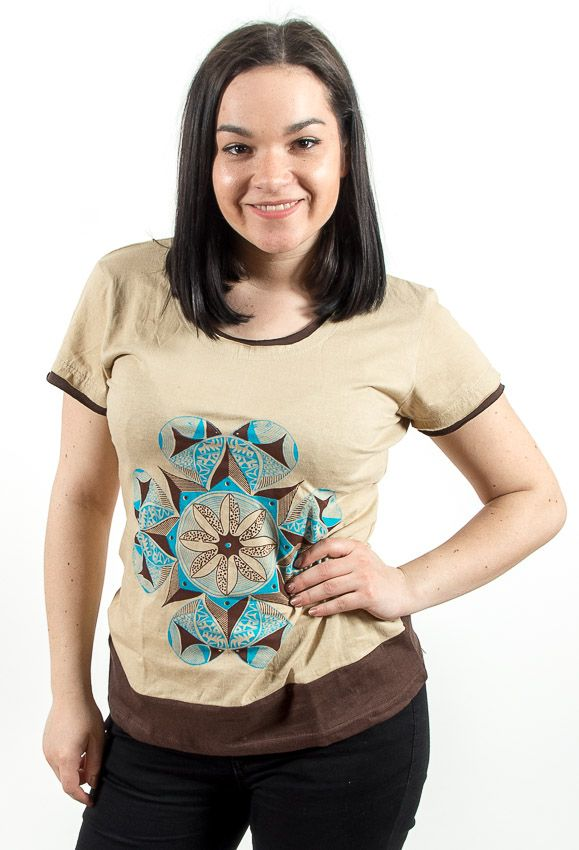 Tričko MANAMANA, 100% bavlna, ruční tisk Nepál NT0100 38 002 KENAVI