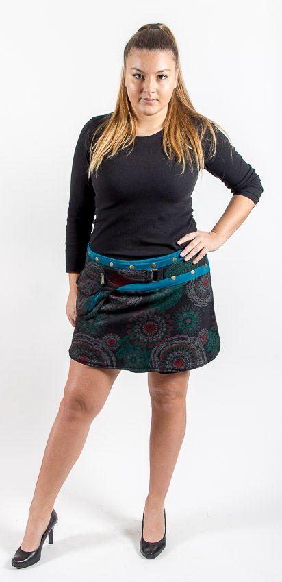 Dámská krátká zimní sukně YETTI 1, bavlna Nepál NT0101 12BA 003 KENAVI