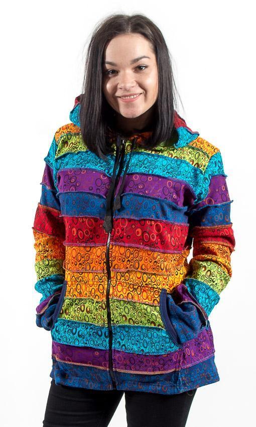 Bundička BUBLINKY RAINBOW Nepál - špičatá kapuce skřítek :-) NT0023 00 041 KENAVI