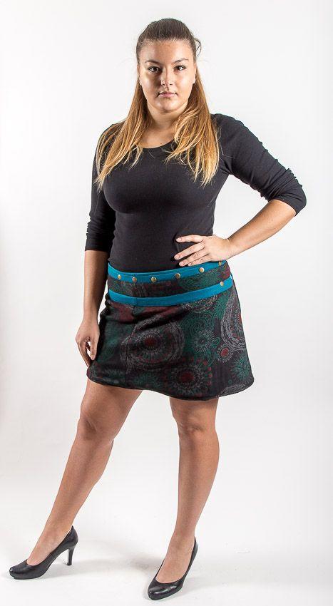 Dámská krátká zimní sukně YETTI 2, bavlna Nepál NT0101 BB 001 KENAVI