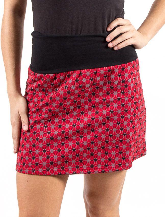 Dámská zateplená krátká sukně WARM, flaušová bavlna Nepál NT0101 15 001 KENAVI