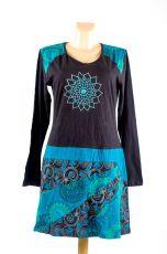 Dámské šaty - tunika ASTRA dlouhý rukáv, ruční práce Nepál