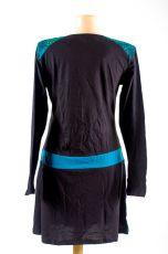 Dámské šaty - tunika ASTRA dlouhý rukáv, ruční práce Nepál NT0048 84 001 KENAVI
