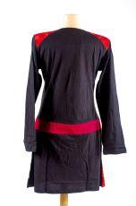 Dámské šaty - tunika ASTRA dlouhý rukáv, ruční práce Nepál NT0048 84 002 KENAVI