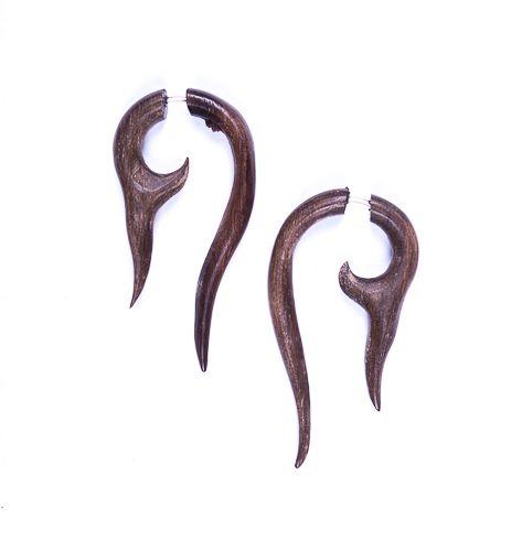 Falešné roztahováky ze dřeva - pár IS0031 022