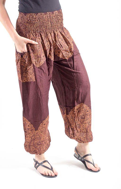 Kalhoty sultánky FLOW viskóza Thajsko TT0043-01-010
