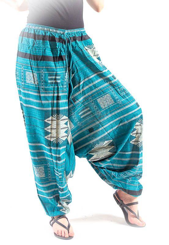 Kalhoty turecké harémové ORIGIN ROUGH bavlna Thajsko TT0043-02-001