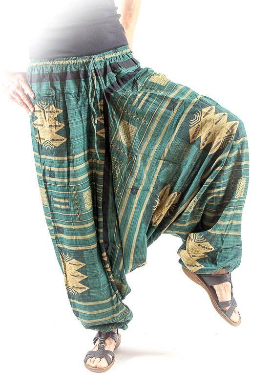 Kalhoty turecké harémové ORIGIN ROUGH bavlna Thajsko TT0043-02-003