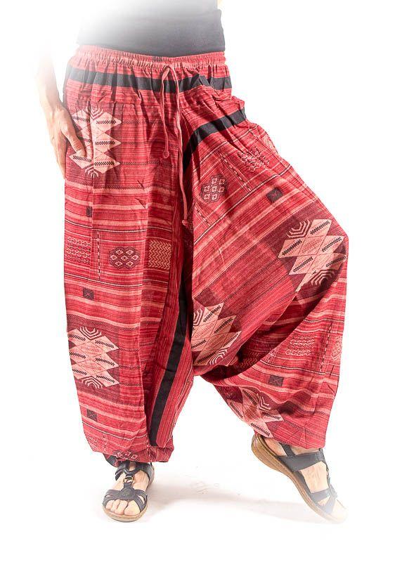 Kalhoty turecké harémové ORIGIN ROUGH bavlna Thajsko TT0043-02-002