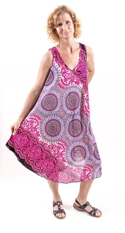 Ležérní dámské letní šaty HIBISCUS TT0112-01-008