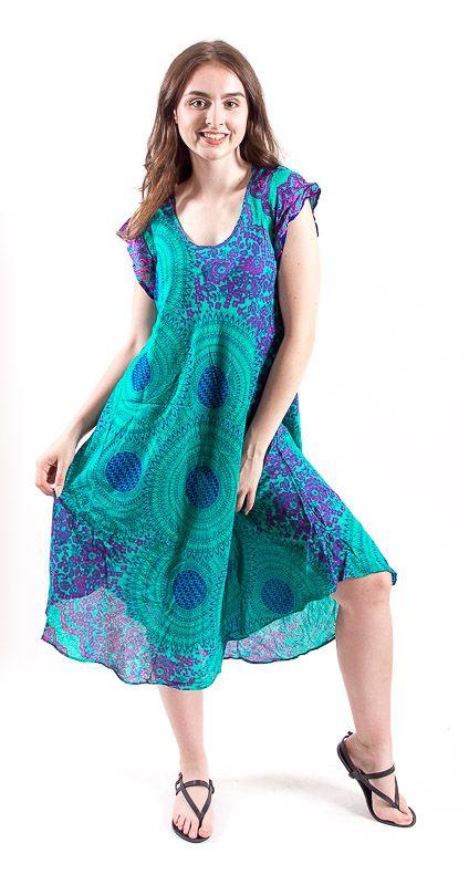 Ležérní dámské letní šaty HIBISCUS TT0112-01B-001
