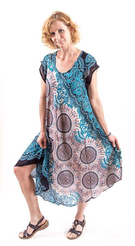 Ležérní dámské letní šaty HIBISCUS TT0112-01B-002