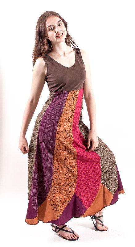 Šaty FLAMINGO- 100% bavla z Nepálu NT0048 80 004 KENAVI