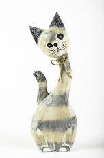 Soška KOČKA 40 cm, albesia Indonésie