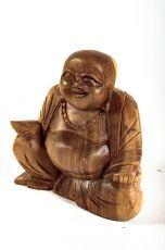 Soška Veselý Buddha (Happy Buddha) 12 cm hnědý Indonés