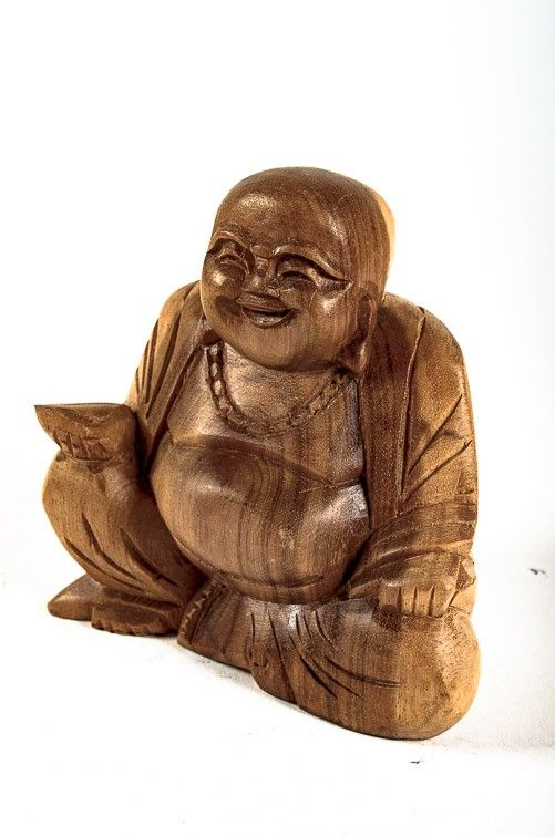 Soška Veselý Buddha (Happy Buddha) 12 cm hnědý Indonésie ID1600808B