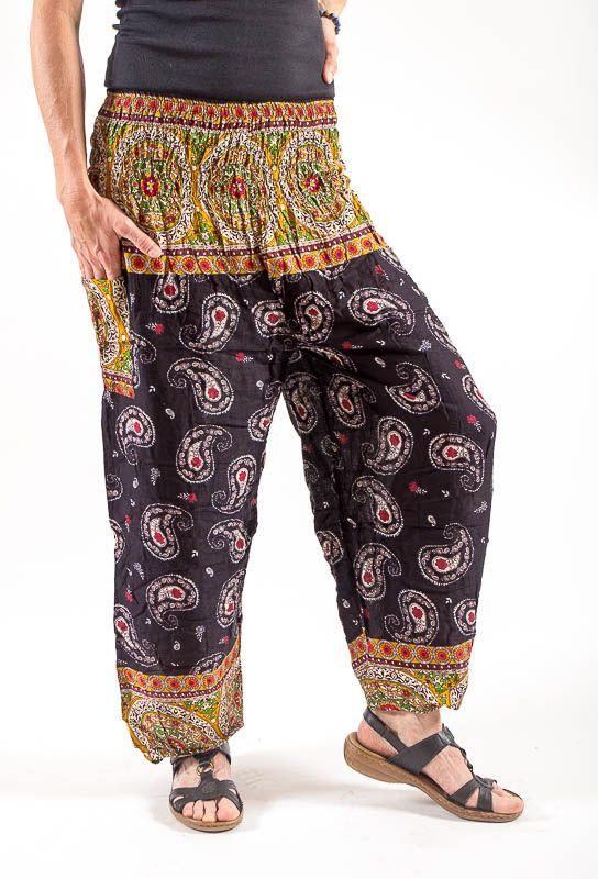 Turecké kalhoty sultánky FLOW viskóza Thajsko TT0043-01-024