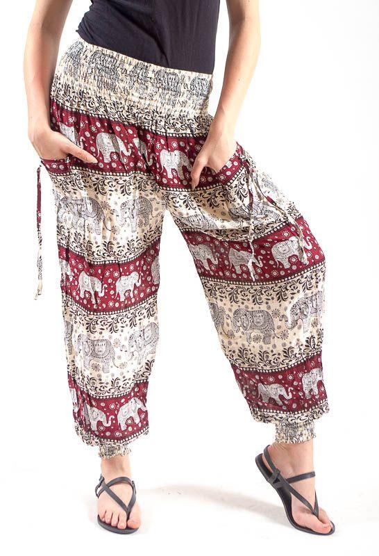 Turecké kalhoty sultánky FLOW viskóza Thajsko TT0043-01-026