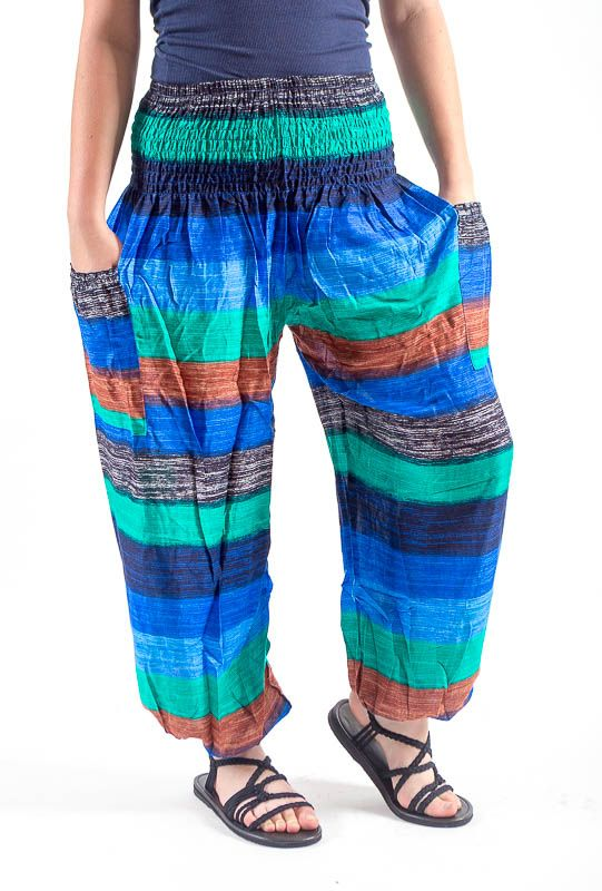 Turecké kalhoty sultánky FLOW viskóza Thajsko TT0043-01-014