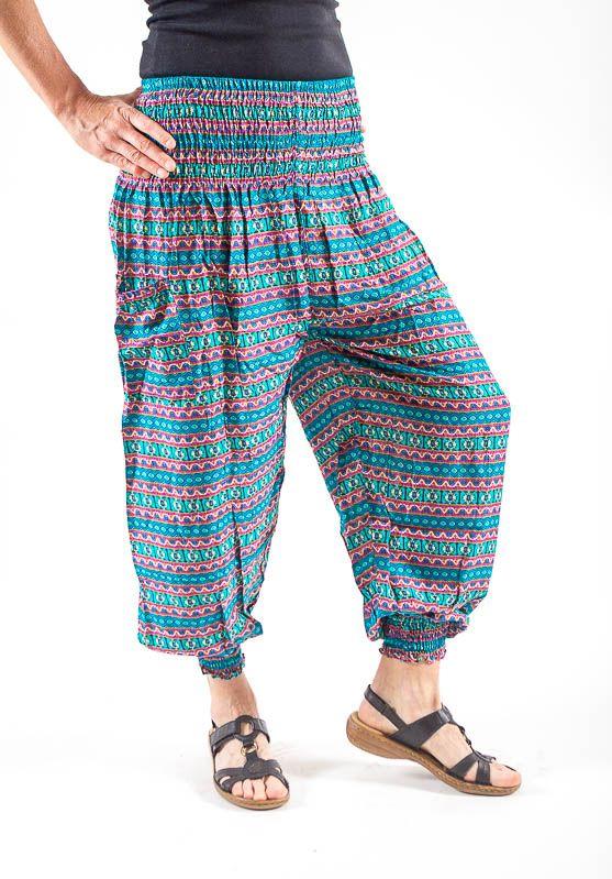 Turecké kalhoty sultánky FLOW viskóza Thajsko TT0043-01-017
