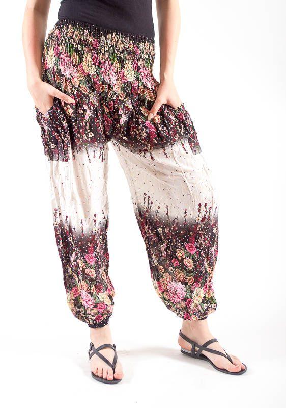 Turecké kalhoty sultánky FLOW viskóza Thajsko TT0043-01-018
