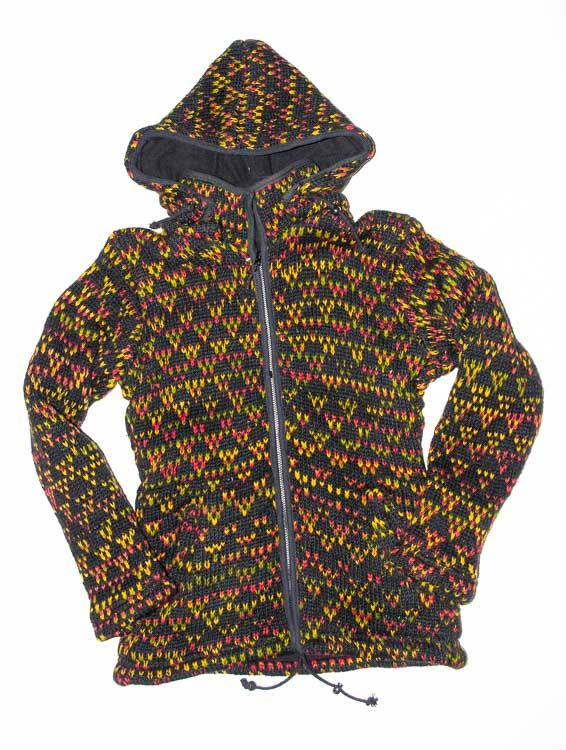 Vlněná bunda s fleesovou podšívkou a odepínatelnou kapucí NT0032 00 007 KENAVI