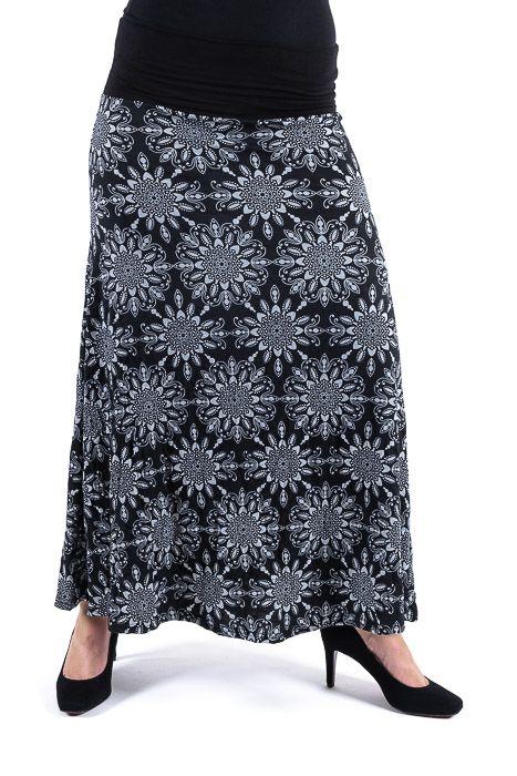 Dámská dlouhá sukně LILY LONG z letního materiálu TT0100 01B 009