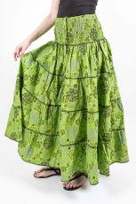 Dámská letní dlouhá sukně ZAMIA LONG MAXI, bavlna Nepál