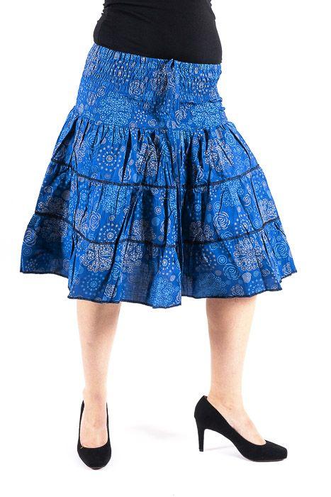 Dámská letní krátká sukně ZAMIA MIDI, bavlna Nepál NT0101 21 002 KENAVI