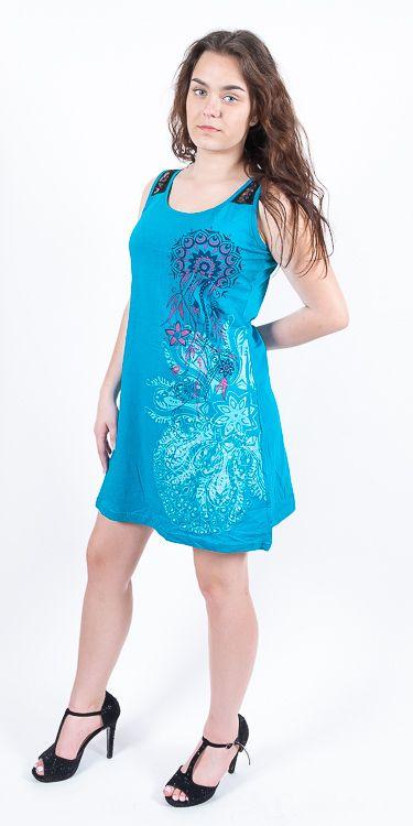 Dámské šaty z Nepálu ABRA, 100% bavlna NT0048 85 002 KENAVI