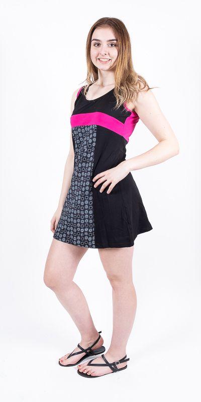 Dámské šaty z Nepálu CATHY, 100% bavlna NT0048 88 001 KENAVI
