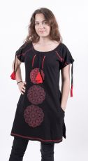 Dámské šaty / šatová tunika z Nepálu DEOSAI, 100% bavlna (002))