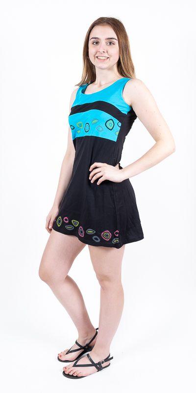 Dámské šaty z Nepálu DORRIS, 100% bavlna NT0048 89 001 KENAVI