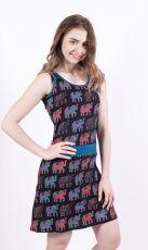 Dámské šaty z Nepálu ELEPHY, 100% bavlna (002)