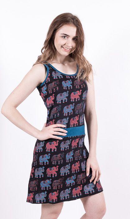 Dámské šaty z Nepálu ELEPHY, 100% bavlna NT0048 93 002 KENAVI