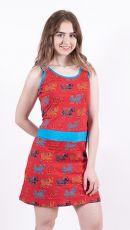 Dámské šaty z Nepálu ELEPHY, 100% bavlna (001)