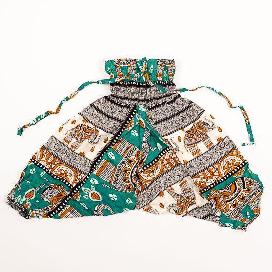 Dětské letní turecké kalhoty harémové BABY ORIGIN 49 cm TT0013 02 004