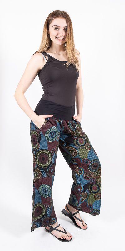 Kalhoty CARMEN, bavlna Nepál (dole ztahovací nohavice) NT0096 09 006 KENAVI