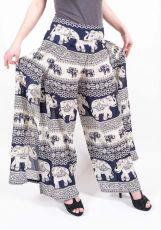 Kalhoty otevřené zavinovací (vzadu na gumu) (širší v pase)