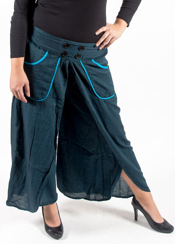 Kalhoty rozhalenkové DRAGONFLY , bavlna Nepál NT0096 08 001 KENAVI