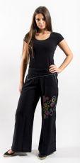 Kalhoty SERENA bavlna,potisk, výšivka Nepál NT0053 38 001