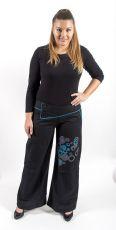 Kalhoty SERENA bavlna,potisk, výšivka Nepál