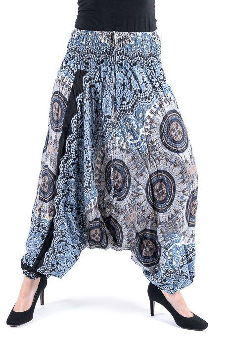 Kalhoty turecké harémové ORIGIN viskóza Thajsko TT0043 143