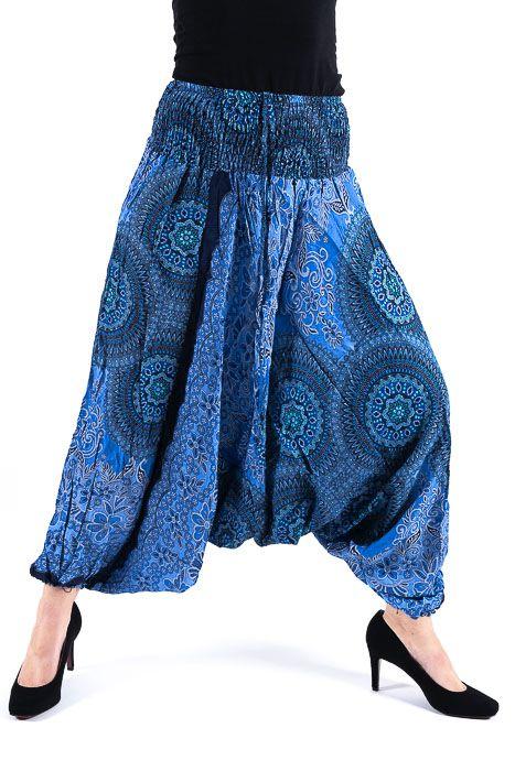 Kalhoty turecké harémové ORIGIN viskóza Thajsko TT0043 153
