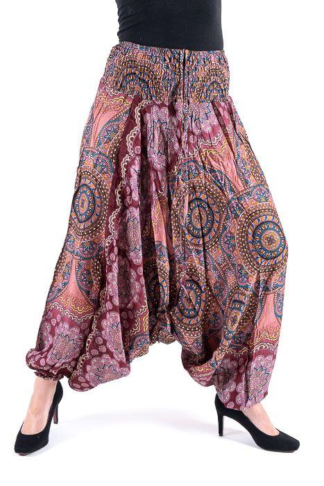 Kalhoty turecké harémové ORIGIN viskóza Thajsko TT0043 148