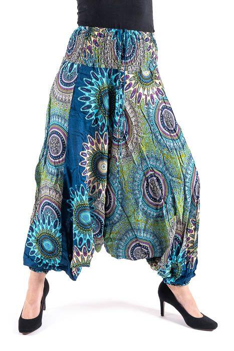 Kalhoty turecké harémové ORIGIN viskóza Thajsko TT0043 149