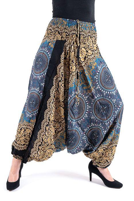 Kalhoty turecké harémové ORIGIN viskóza Thajsko TT0043 150