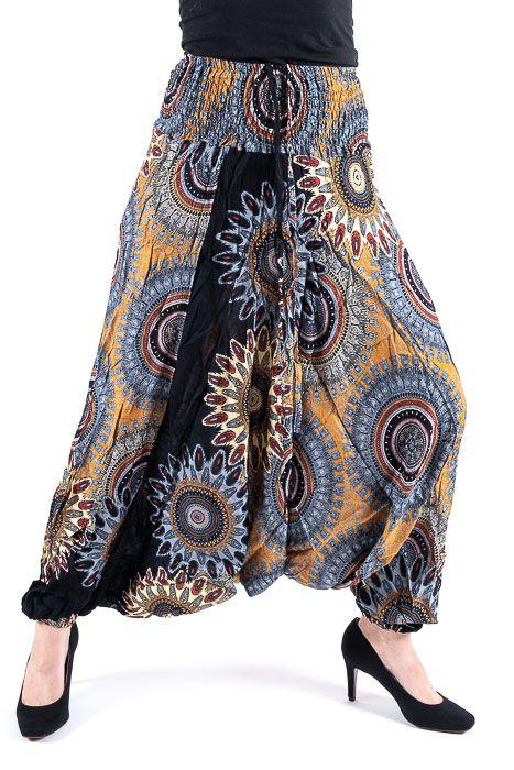 Kalhoty turecké harémové ORIGIN viskóza Thajsko TT0043 151