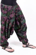 Kalhoty turecké ALIBABA, ruční potisk Nepál NT0096 11 001 KENAVI